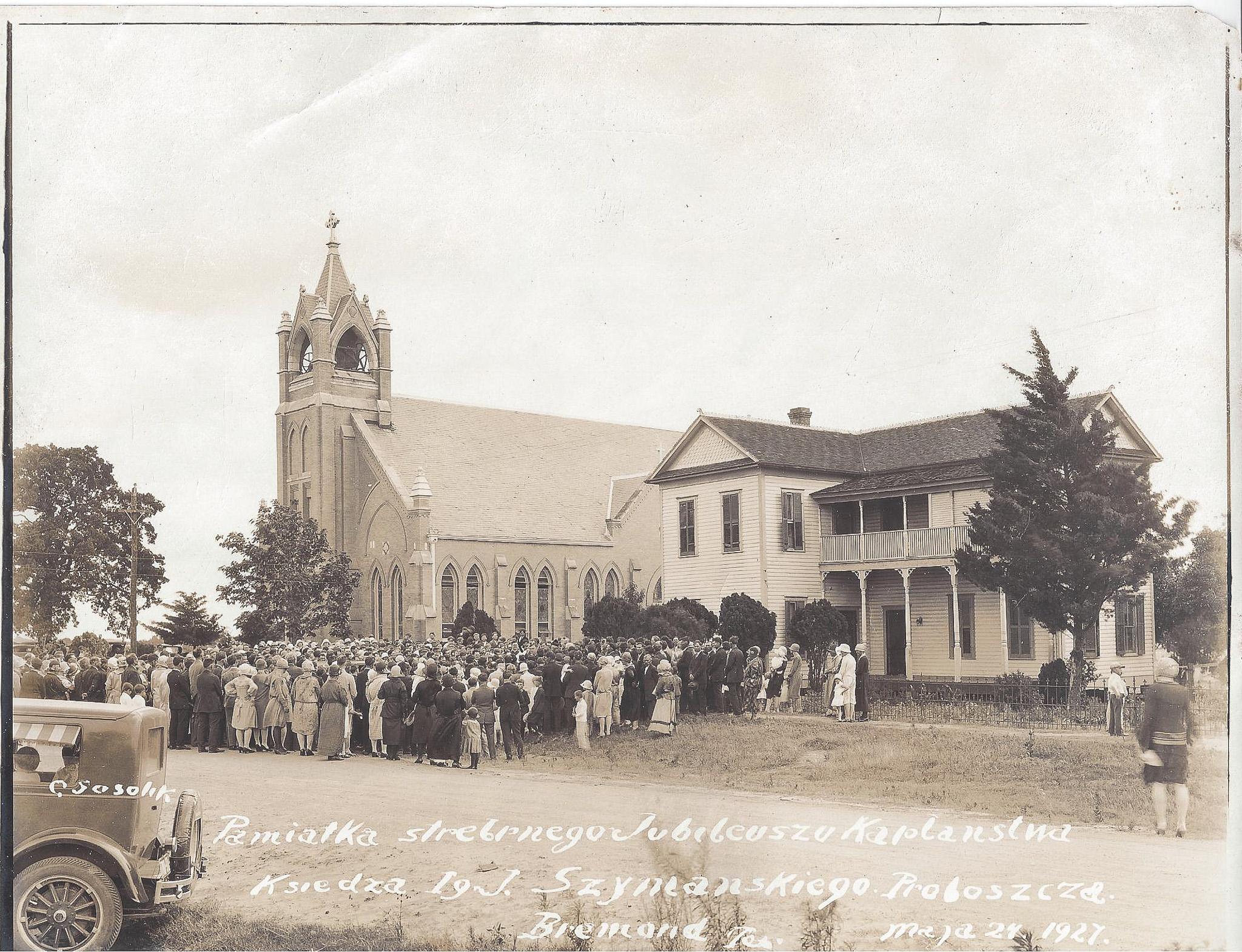 Vintage Church Photo Before Photo Restoration
