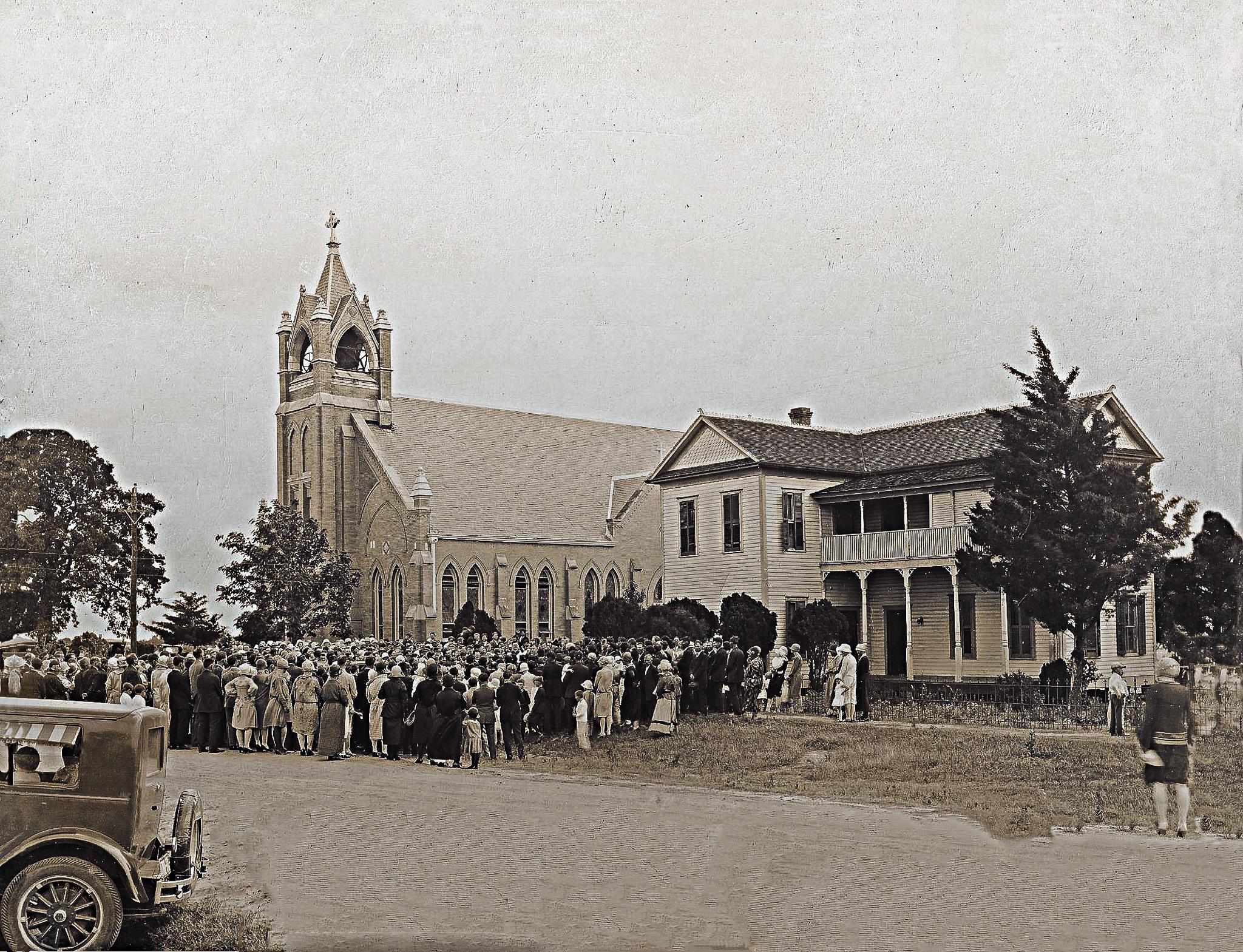 Vintage Church Photo After Photo Restoration