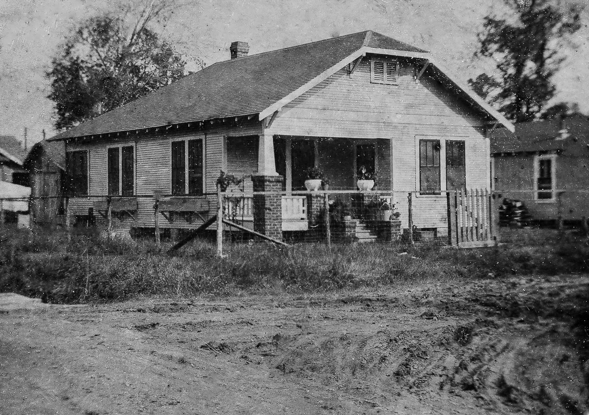 After restoration of Vintage Photo Of Old House